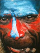 Face of Man of New Guinea
